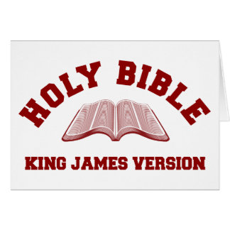 Holy Bible King James Version in red Card