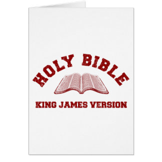 Holy Bible King James Version in red distressed Card