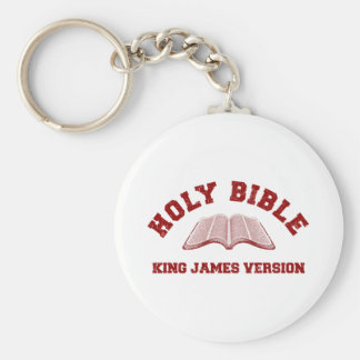 Holy Bible King James Version in red distressed Keychain
