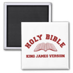 Holy Bible King James Version in red distressed Fridge Magnet