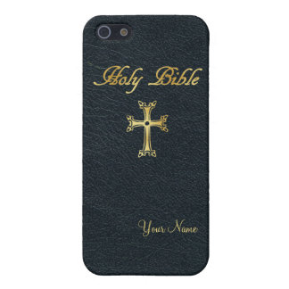 """Holy Bible """"Leather"""" Customizable Cover For iPhone SE/5/5s"""