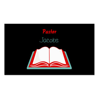 Holy Bible, Pastor, Jacobs Double-Sided Standard Business Cards (Pack Of 100)