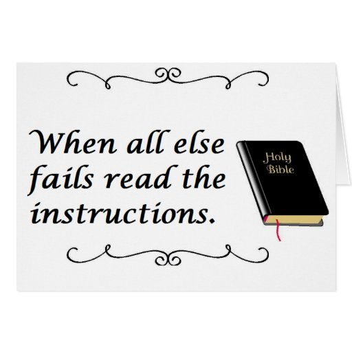 how to read instructions
