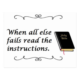 Holy Bible: Read Instructions Postcard