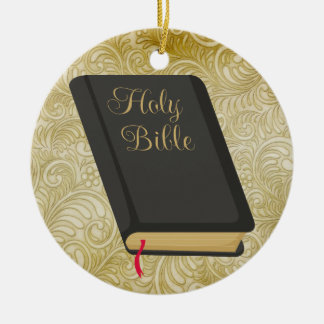 Holy Bible - SRF Double-Sided Ceramic Round Christmas Ornament