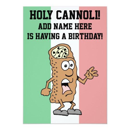 Holy Cannoli Italian Flag of Italy Birthday Card – Italian Birthday Card