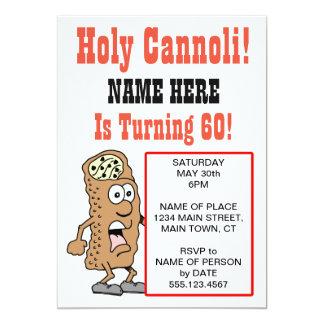 Holy Cannoli Turning 60 Party Invitation