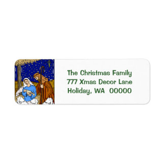 Holy Christmas Card Envelopes  Stickers