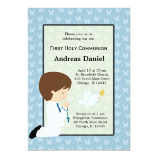 Holy Communion boy * Choose your background color Card