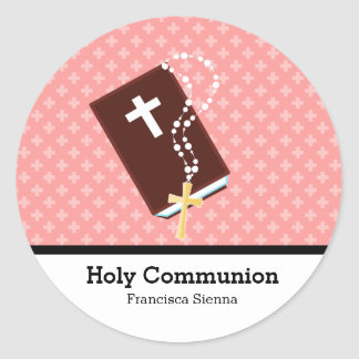 Holy Communion Classic Round Sticker