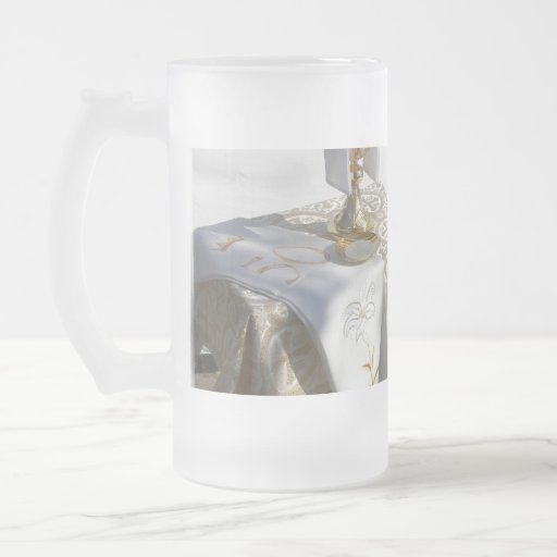 Holy Communion Frosted Beer Mug
