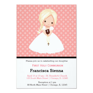 Holy Communion girl Card