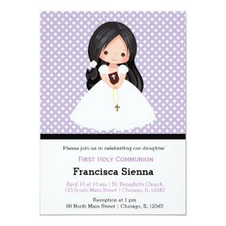 Holy Communion girl * choose background color Card