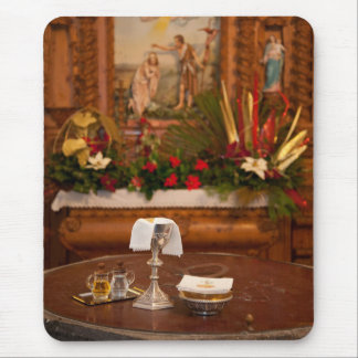 Holy communion mouse pad