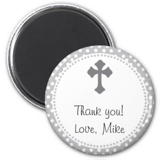 Holy Communion Polka Thank You Round Magnet