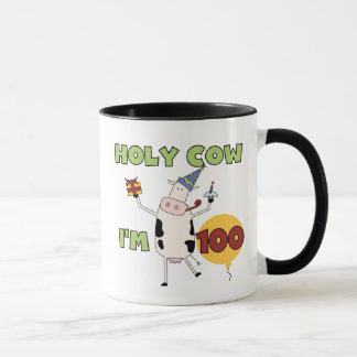 Holy Cow 100th Birthday Tshirts and Gifts Mug