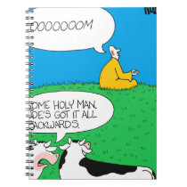 Holy Cow 2017 Zazzle Notebook