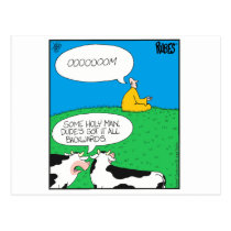 Holy Cow 2017 Zazzle Postcard