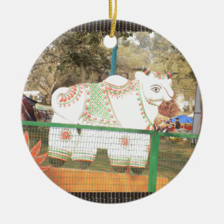 HOLY COW animal statue exhibition festival show Ceramic Ornament