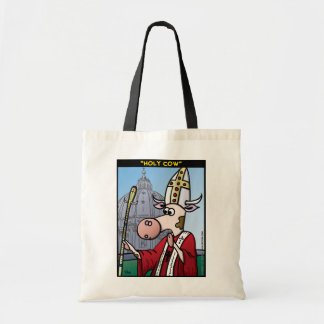 """Holy Cow"" Budget Tote Bag"