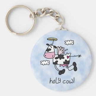 Holy Cow! Basic Round Button Keychain