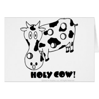Holy Cow! Belated Birthday Card