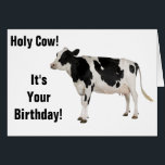 """Holy Cow! Birthday Card! Card<br><div class=""""desc"""">Funny birthday card with cows!</div>"""