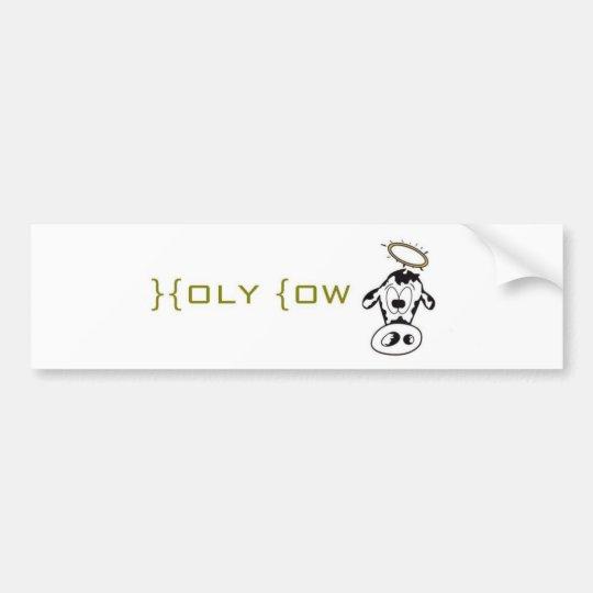 Holy Cow Bumper Sticker