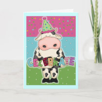 Holy Cow Celebrate Birthday Card