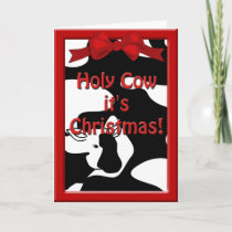 Holy Cow Christmas Greeting Card