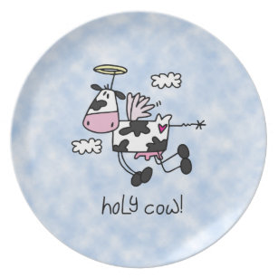 Holy Cow! Dinner Plate  sc 1 st  Zazzle & Cow Plates | Zazzle