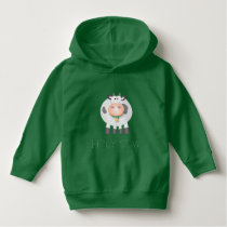 Holy Cow Eating Grass Funny Farm Animal Cartoon Hoodie