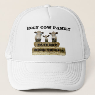 HOLY COW FAMILY-Says eat more veggies-,hat Trucker Hat