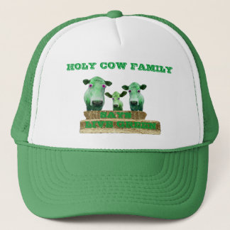 HOLY COW FAMILY-Says LIVE GREEN, -HAT Trucker Hat