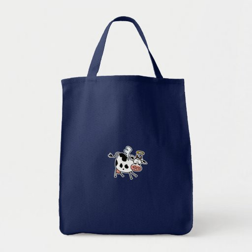 Holy Cow! grocery tote Canvas Bags