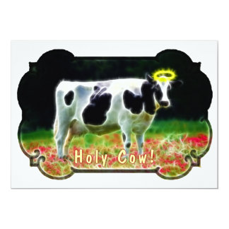 Holy Cow Halo Holstein Cattle Humor Card