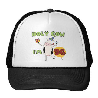 Holy Cow I m 96 Birthday Tshirts and Gifts Mesh Hats
