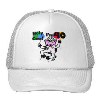 Holy Cow I'm 40 Tshirts and Gifts Trucker Hat