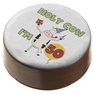 Holy Cow I'm 50 50th Birthday Dipped Oreos