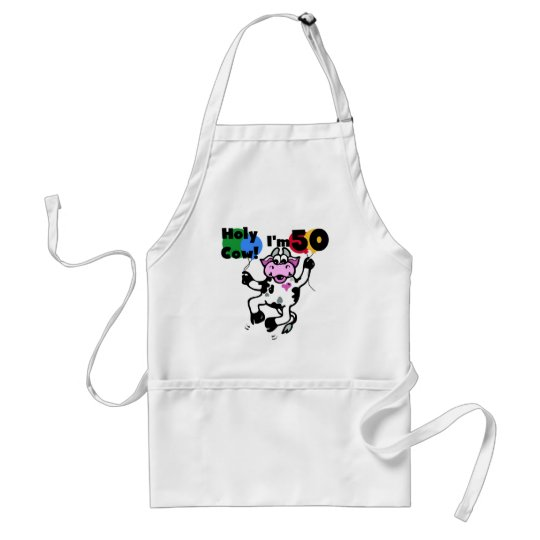 Holy Cow I'm 50 Tshirts and Gifts Adult Apron
