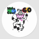 Holy Cow I'm 60 Tshirts and Gifts Classic Round Sticker