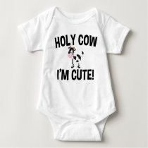 Holy Cow I'm Cute! Baby Bodysuit