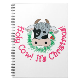 Holy Cow Its Christmas Spiral Notebook