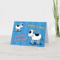 Holy Cow It's Your Birthday Holstein Greeting Card