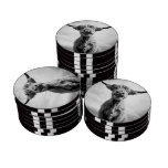 Holy Cow Mesotint Style Art Photography Poker Chips Set