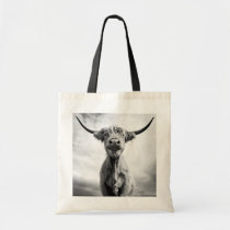 Holy Cow Mesotint Style Art Photography Tote Bag