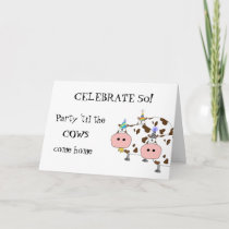 Holy Cow! Party Hat 'Any Age' Funny Birthday Card