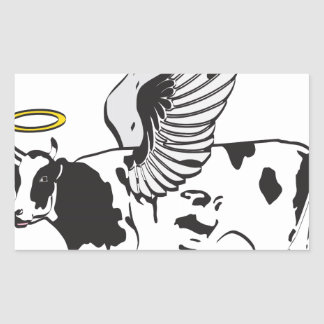 HOLY COW RECTANGLE STICKERS