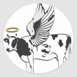 HOLY COW ROUND STICKERS