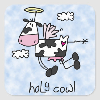 Holy Cow! Square Sticker